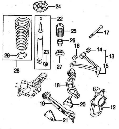 jaguar xk8 xkr  x100  front suspension layout
