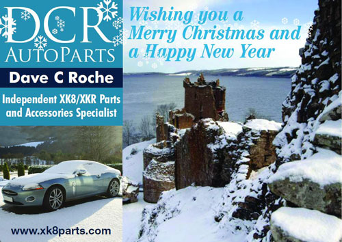DCR XK8 XKR PARTS AND ACCESSORIES SEASONS GREETINGS 2016 / 2017