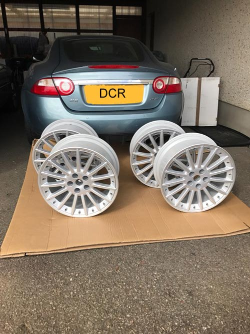 Jaguar XK8 XKR Sepang Alloy Wheels Waiting To Be Packed